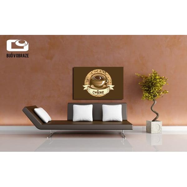Obraz Grunge Coffee, 80x60 cm
