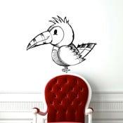 Samolepka Papoušek zprava, 86x70 cm