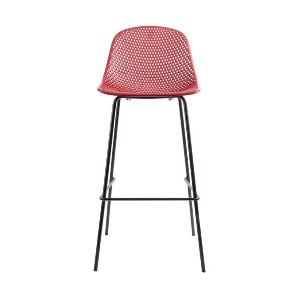 Červená barová stolička Leitmotiv Diamond Mesh