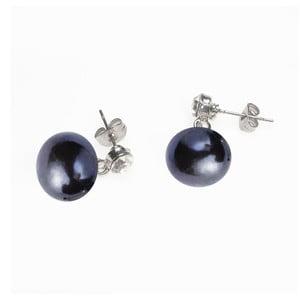 Náušnice s modrou perlou a krystalem od Lucie Markové