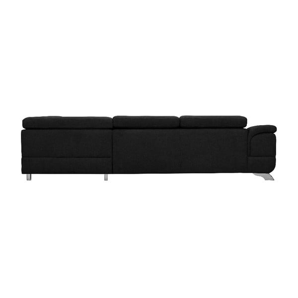 Černá rozkládací rohová pohovka Windsor & Co Sofas Gamma, pravý roh