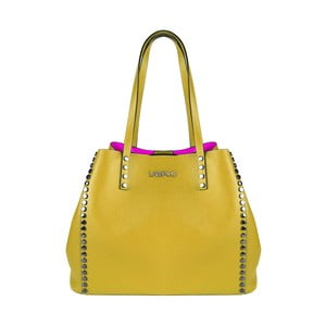Žlutá kožená kabelka Lampoo Plango