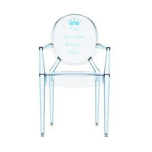 Dětská transparentní židle Kartell Lou Lou Ghost Blue Crown