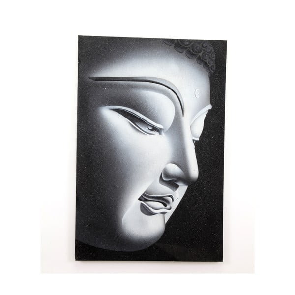 Dřevěný obraz Left Buddha, 60x90 cm