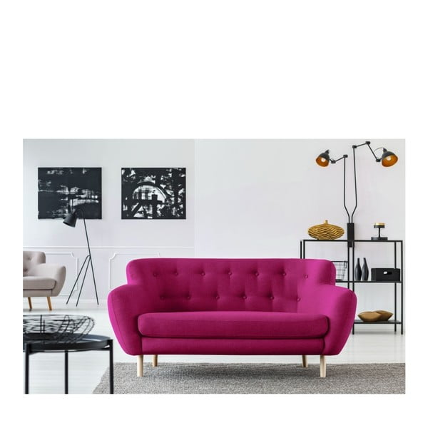 Canapea cu 2 locuri Cosmopolitan design London, roz închis