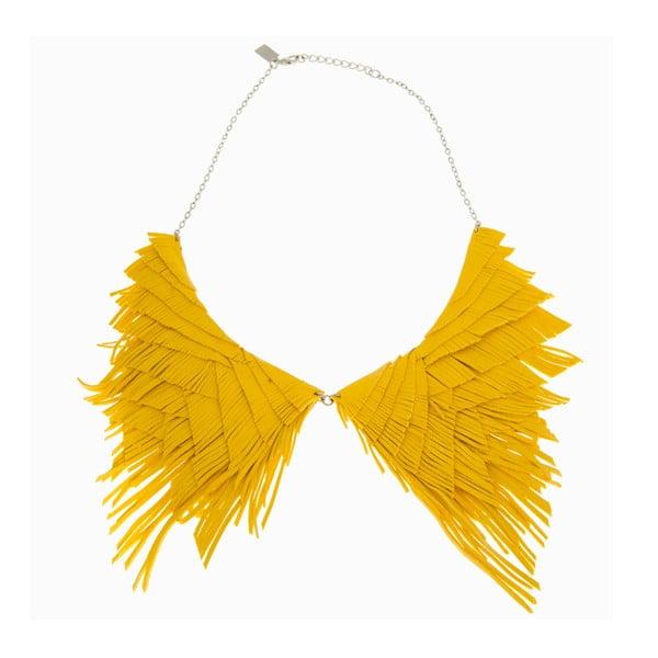 Náhrdelník Fringe, žlutý