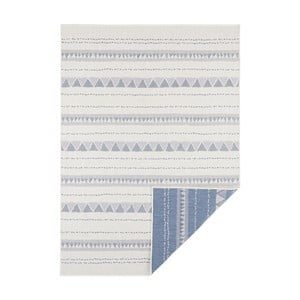 Modro-krémový oboustranný koberec vhodný i na ven Bougari Bahamas, 200 x 290 cm