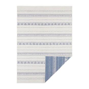 Covor adecvat pentru exterior Bougari Bahamas, 200 x 290 cm, albastru-crem