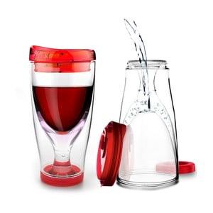 Červená termolahev Asobu Ice Vino 2GO, 300 ml