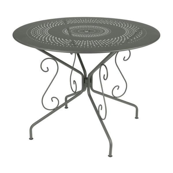 Šedý kovový stůl Fermob Montmartre, Ø96cm