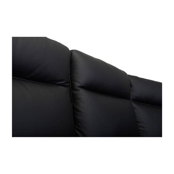 Canapea pe colț, din piele, Furnhouse Hampton, negru