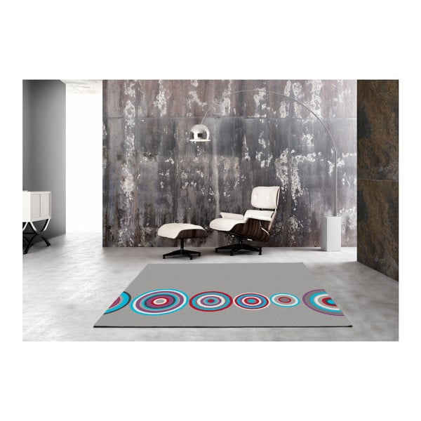 Šedý koberec Universal Boras Circles, 133x190cm