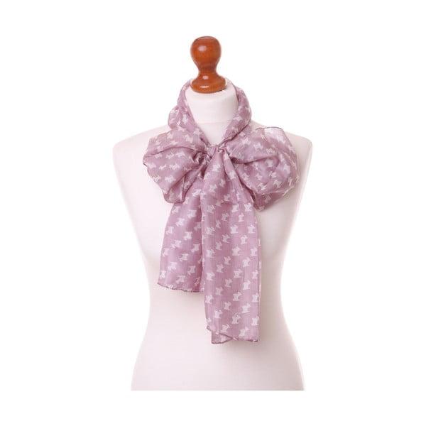 Šátek Pastel Scottie Pink, 180x32 cm