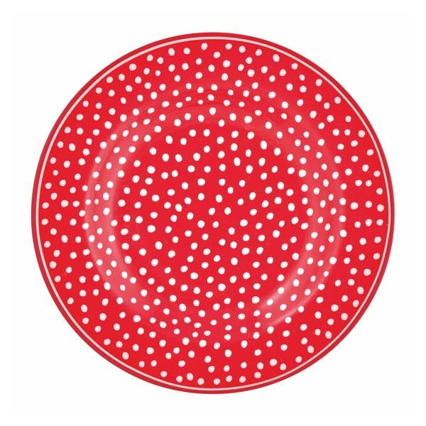 Červený tečkovaný talíř Green Gate Dot, ⌀ 15 cm