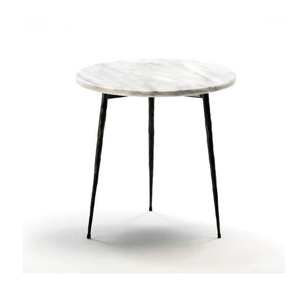 Stolik z marmurowym blatem Thai Natura Laurien, ⌀ 40 cm