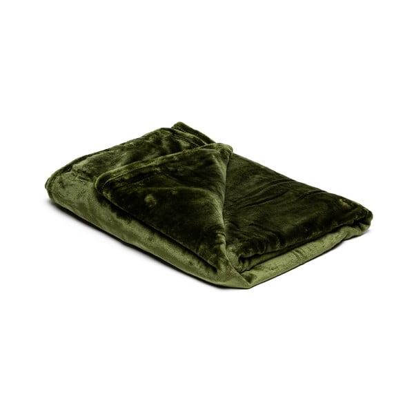 Olivazöld mikroplüss takaró, 150 x 200 cm - My House