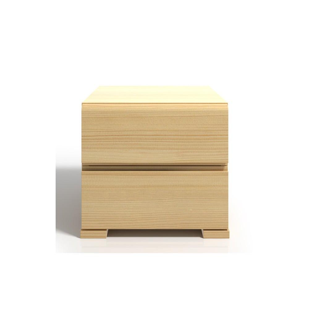 Noční stolek z borovicového dřeva se 2 zásuvkami SKANDICA Vestre