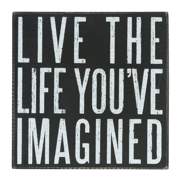 Nástěnná cedule Live The Life