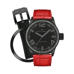 Dámské hodinky Marc Coblen s páskem a kroužkem navíc P53