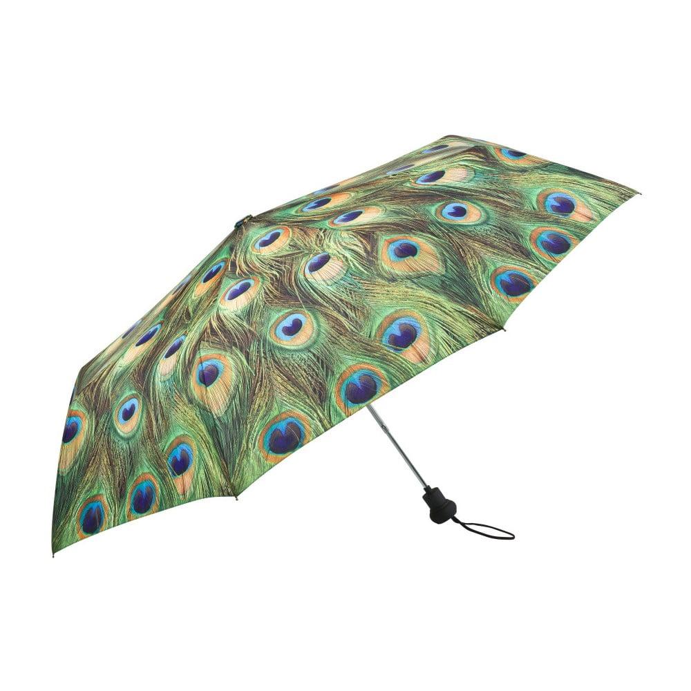 Zelený skládací deštník Von Lilienfeld Peacock