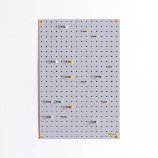 Multifunkční nástěnka Pegboard 40x61 cm,šedá