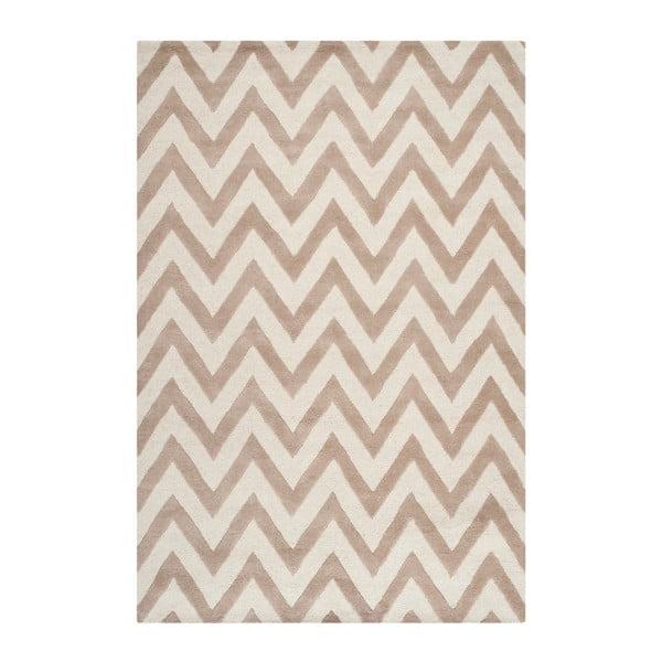 Béžový vlnený koberec Safavieh Stella, 182×274 cm