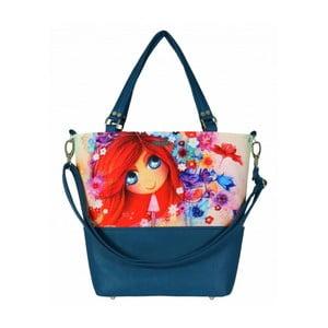 Modro-červená kabelka Dara bags Lele No.459