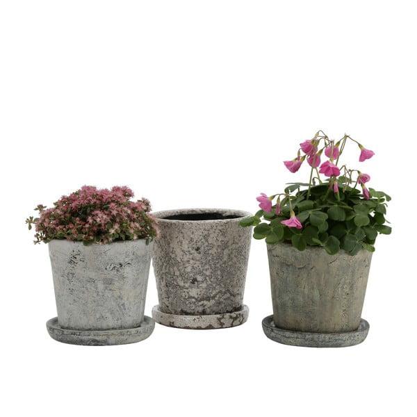 Šedý terakotový květináč A Simple Mess, ⌀14cm