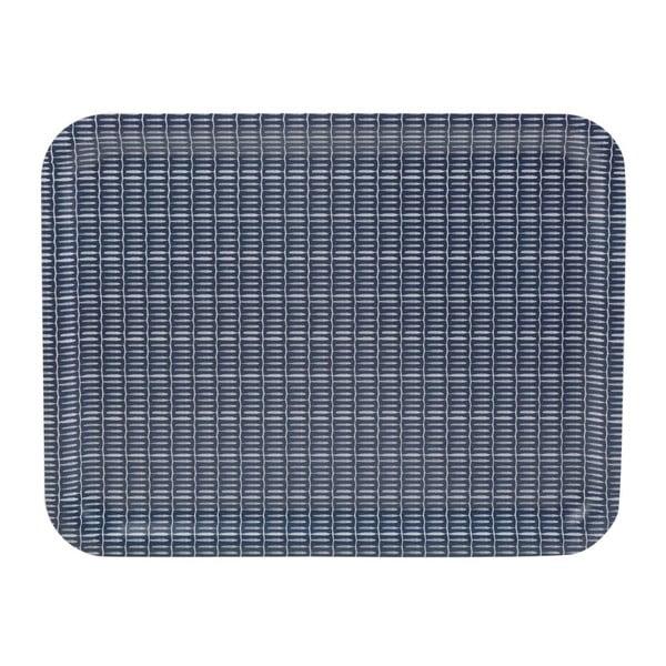 Modrý dřevěný servírovací tác Creative Tops Drift, 48x37 cm