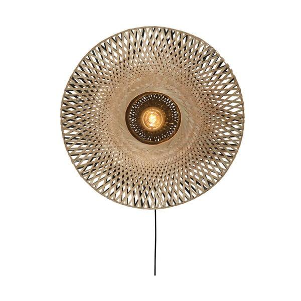 Nástenné bambusové svietidlo Good&Mojo Kalimantan, ⌀ 60 cm