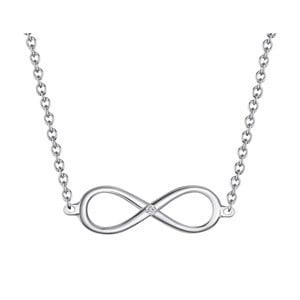 Stříbrný náhrdelník s pravým diamantem Tess Diamonds Avril, délka40cm