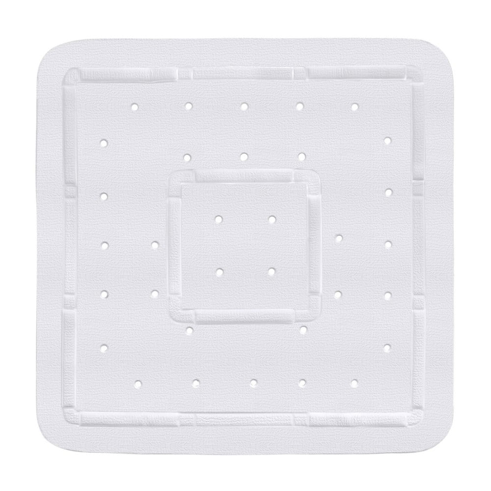 Bílá podložka do sprchového koutu Wenko Florida, 55 x 55 cm