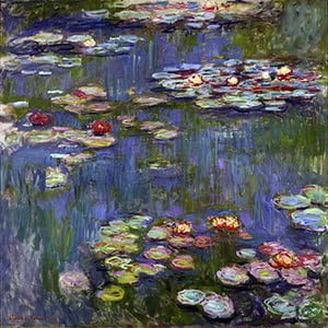 Tablou Claude Monet - Water Lilies 3, 45x45 cm