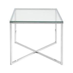 Bílý odkládací stolek Actona Cross, 50 x 45 cm
