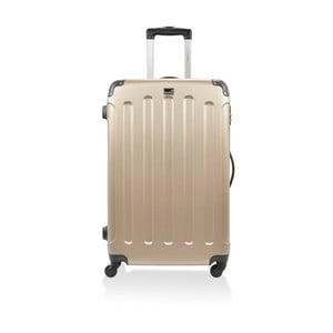 Zlatý cestovní kufr na kolečkách BlueStar Madrid,91l