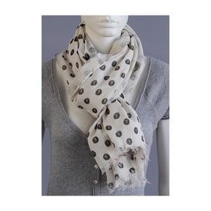 Vzorovaný šátek béžový