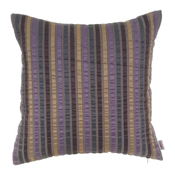Fialová žakárová obliečka na vankúš Apolena Gellert, 43 x 43 cm