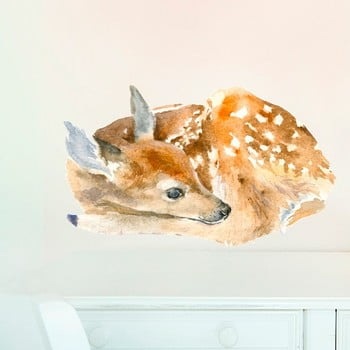Autocolant refolosibil Sleeping Deer 40x24 cm