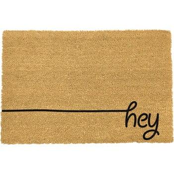 Covoraș intrare din fibre de cocos Artsy Doormats Hey Scribble, 40 x 60 cm, negru imagine