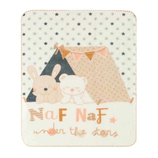 Detská deka s béžovými detailmi Naf Naf Under The Stars, 110 x 140 cm