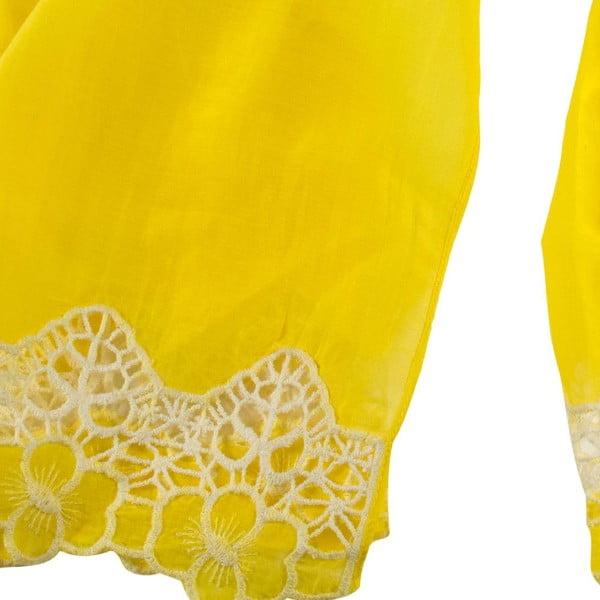 Šátek s příměsí hedvábí Shirin Sehan Florentine Lemon