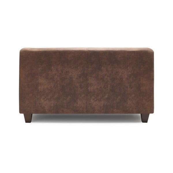 Canapea cu 2 locuri Bobochic Paris Django Preston, maro