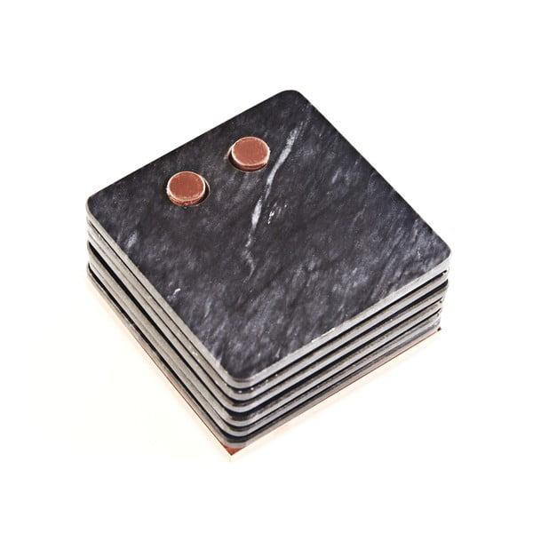 Mramorové podtácky Marble Black