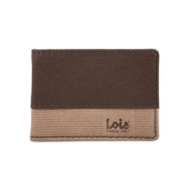 Kožená peněženka Lois Brown Block, 10x7 cm
