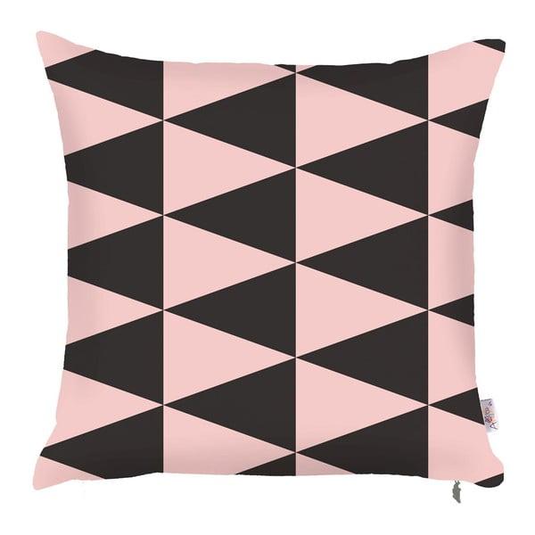 Poszewka na poduszkę Apolena Pinky Triangles, 43x43 cm