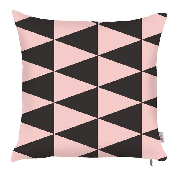 Pinky Triangles párnahuzat, 43 x 43 cm - Apolena