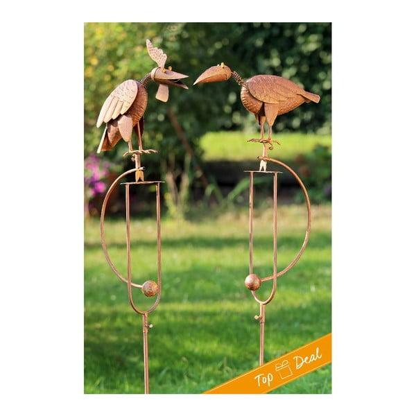 Sada 2 zahradních dekorací Pendulum Birds