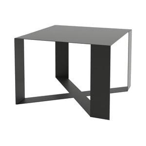 Černý konferenční stolek Take Me HOME Cross, 55x55cm