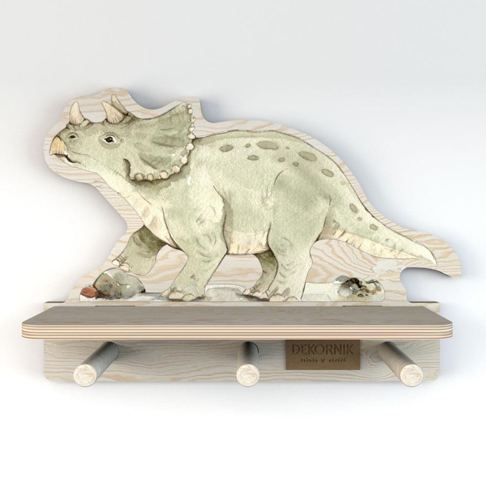 Nástěnná police s motivem dinosaura Dekornik