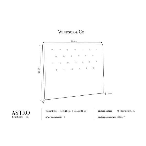 Krémové čelo postele Windsor & Co Sofas Astro, 180 x 120 cm